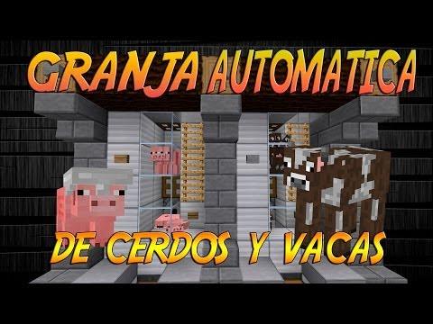 | TUTORIAL REDSTONE | GRANJA DE CERDOS Y VACAS AUTOMATICAS 1.7.5