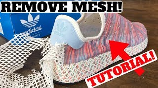 Adidas DEERUPT 'PRIDE' How to REMOVE The Mesh! width=