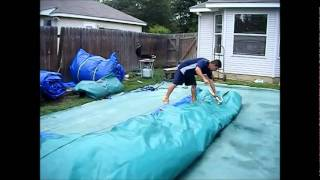 getlinkyoutube.com-Rolling an Inflatable with a Winch