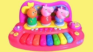 getlinkyoutube.com-Piano Musical da Porquinha Peppa Pig, George Pig & Candy Cat da Multikids Brinquedos em Portugues BR