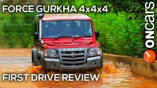 getlinkyoutube.com-Force Gurkha 4x4x4 First Drive Review by OnCars India