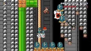 【Super Mario Maker】クリア率0%(0/7000)超鬼畜しっぽマリオコースに挑戦!【マリオメーカー】