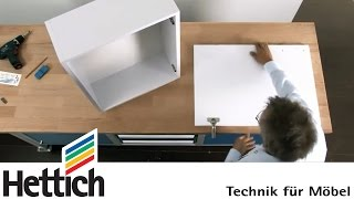 Installation of cup hinges with a drilling template: Do-It-Yourself with Hettich