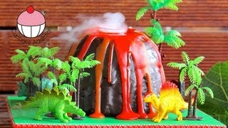 getlinkyoutube.com-Make a Smoking Volcano Cake - Dinosaur / Hawaiian Party - A Cupcake Addiction How To Tutorial
