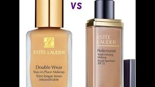 getlinkyoutube.com-Estee Lauder Double Wear Foundation vs Perfectionist Foundation