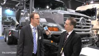 getlinkyoutube.com-IDEX 2015 Shaun Connors talks to Mercedes-Benz about their latest Zetros 3643 AS 6x6 vehicle
