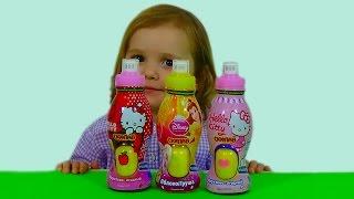getlinkyoutube.com-Принцессы Дисней Хелло Китти сюрпризы открываем игрушки Disney Princess Hello Kitty surprise toys