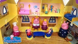getlinkyoutube.com-Свинка Пеппа обзор игрушки Замок принцессы Пеппы