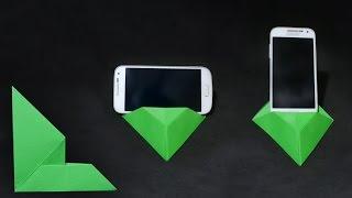 getlinkyoutube.com-Origami: Origami Phone Stand/Holder 2.0