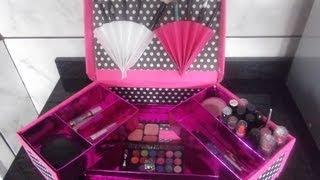 getlinkyoutube.com-organizador de maquiagem com caixa de sapato