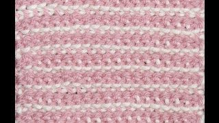 getlinkyoutube.com-Crochet Doble Gancho Punto # 1