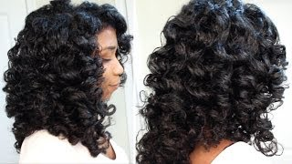 How To Cheat A Perm Rod Set | EASY Technique Heatless Soft Curls - Naptural85 Natural Hair
