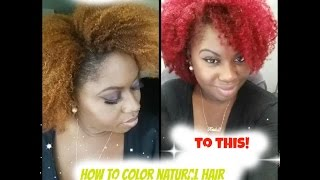getlinkyoutube.com-Natural Hair | How I Colored/Dyed My Hair  Red + Directions & Tips