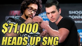 $71,000 Heads Up SNG! ($10k WCOOP Run, Part 10)