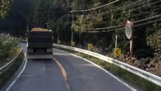 トレーラーの車窓 国道307号線 京都府綴喜郡宇治田原町