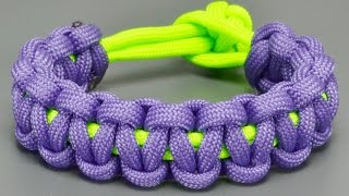 getlinkyoutube.com-How to make Basic Cobra paracord bracelet without Buckles