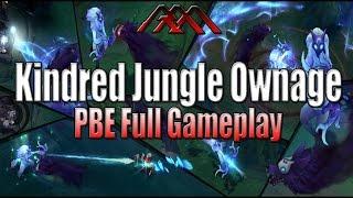 getlinkyoutube.com-Kindred Jungle Ownage - PBE Full Gameplay - League of Legends