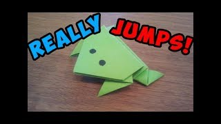 getlinkyoutube.com-How To Make a Paper Jumping Frog - Origami