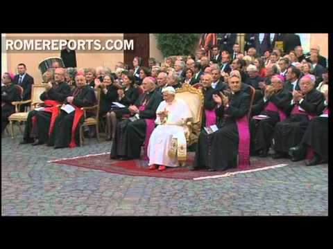 Pope enjoys an opera based on the life of St  Augustine