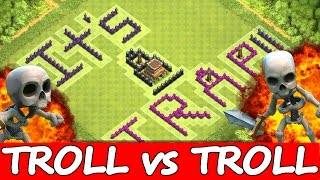 "getlinkyoutube.com-Clash Of Clans | ""TROLL BASE vs TROLL KING!"" 