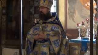 Приветствие иеромонаха Никодима и монахини Сергии
