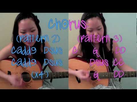 "guitar tutorial: ""call me maybe"" by carly rae jepsen guitar chords (no capo!)"