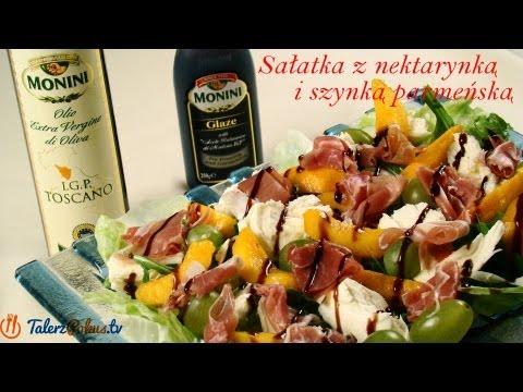 Sałatka z nektarynką i szynką parmeńską