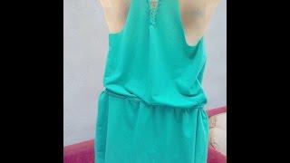 getlinkyoutube.com-Como transformar aquele vestido velho em uma linda mine veste de praia.