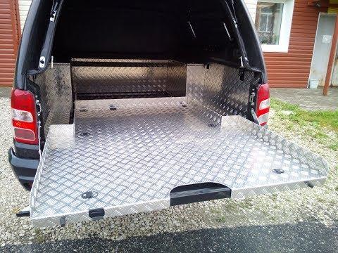 6 Установка выкатной грузовой платформы MITSUBISHI L200 от АВС-Дизайн