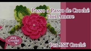 getlinkyoutube.com-Passo a Passo Flor Amore por JNY Crochê