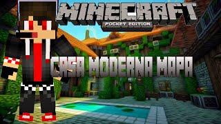 getlinkyoutube.com-Mapa de casa moderna para minecraft pe 0.13.0