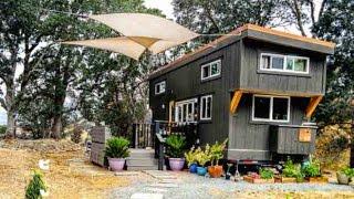 getlinkyoutube.com-Beautiful Tiny House w/ a built-in Bar Window! Full Tour