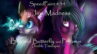 getlinkyoutube.com-SpeedPaint #34 - Billy and Butterfly l Pegasus [Double Timelapse] (by Jinx Madness)