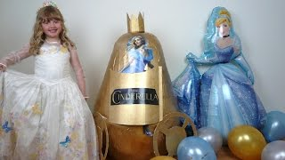 getlinkyoutube.com-Disney Cinderella Movie Videos Super Giant Egg Surprise The Worlds Biggest EVER Play Doh Kinder Eggs