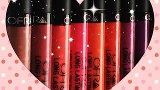 getlinkyoutube.com-Ofra Long Lasting Liquid Lipstick - lip swatches