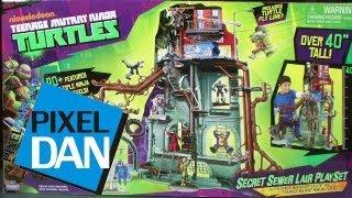getlinkyoutube.com-Nickelodeon Teenage Mutant Ninja Turtles Secret Sewer Home Playset Review