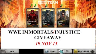 103.WWE IMMORTALS: KANE SPECIAL AND SUPER MOVES GIVEAWAY ACCOUNT UPDATED
