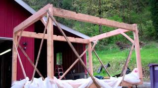 getlinkyoutube.com-Trees To Timber Frame Cabin Off-grid Homestead Project Frame