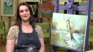 getlinkyoutube.com-Bleak Midwinter LANDSCAPE PAINTING oil - Paint with Maz Online classes