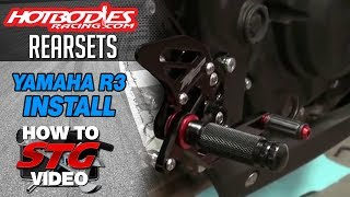getlinkyoutube.com-How to Install Hotbodies Rearsets on a Yamaha YZF-R3 from Sportbiketrackgear.com