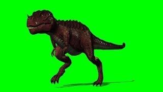 getlinkyoutube.com-T-Rex run by  green screen A