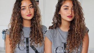 getlinkyoutube.com-Der ultimative Haartrick für natürlich definierte Locken! Super einfach und ohne Hitze!
