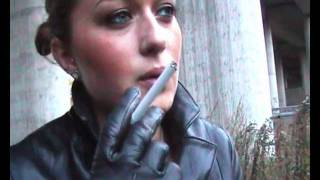 Bella 6 - Elegant Leatherlady Smoking her Cigarette
