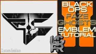 getlinkyoutube.com-COD Ghosts Custom Faze Clan Logo : Call of Duty Black Ops 2 Emblem Tutorial