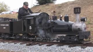 """getlinkyoutube.com-15"""" gauge live steam Shay at Hillcrest & Wahtoke Railroad"""