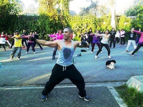 Aerobics Dance Workout at Burnham Park,  Baguio City, Philippines