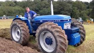 getlinkyoutube.com-leyland and nuffield equal wheel tractors working. very rare
