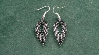 getlinkyoutube.com-Beading4perfectionists : Russian leaf with delica beads earrings video version beading tutorial