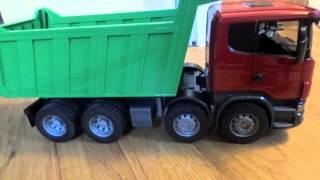 getlinkyoutube.com-Bruder Scania R-Series Dump Truck 03550 Review