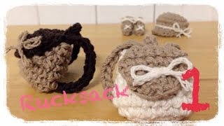 getlinkyoutube.com-How to crochet a miniature rucksack (1/2) ミニチュア リュックの編み方 by meetang